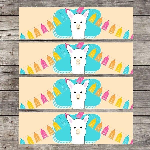 Free Llama Party Printables - Llama Party Ideas