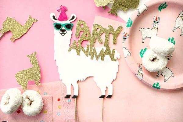 Llama Birthday Cake Topper - Llama Party Ideas