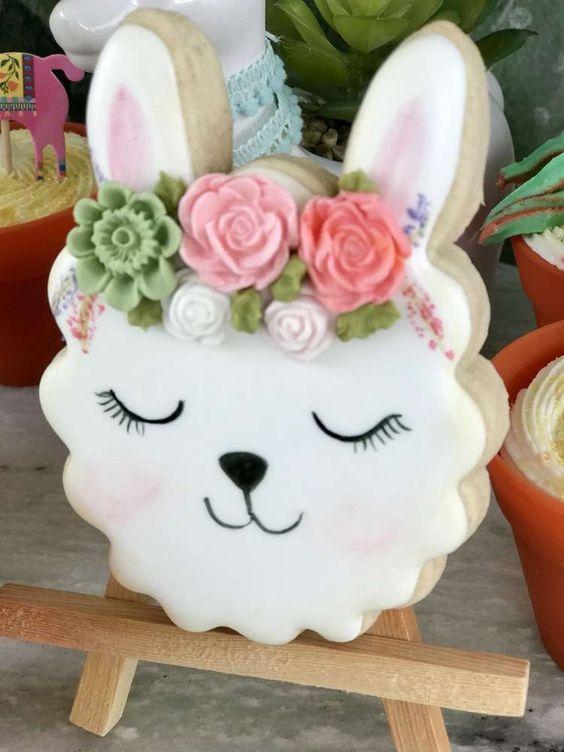 Llama Cookie - Llama Party Ideas