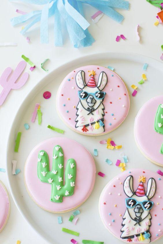 Llama Cookies - Llama Party Ideas