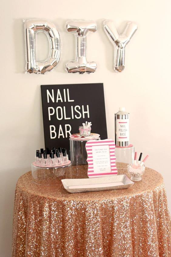 Nail Polish Bar - Spa Party Ideas