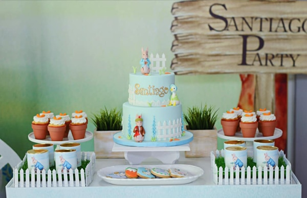 Peter Rabbit Birthday Cake on Pretty My Party