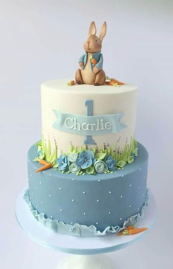 Peter Rabbit Birthday Cake - Peter Rabbit Party Ideas