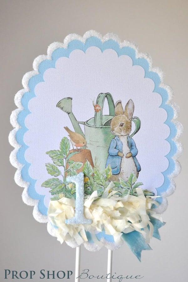 Peter Rabbit Cake Topper - Peter Rabbit Party Ideas