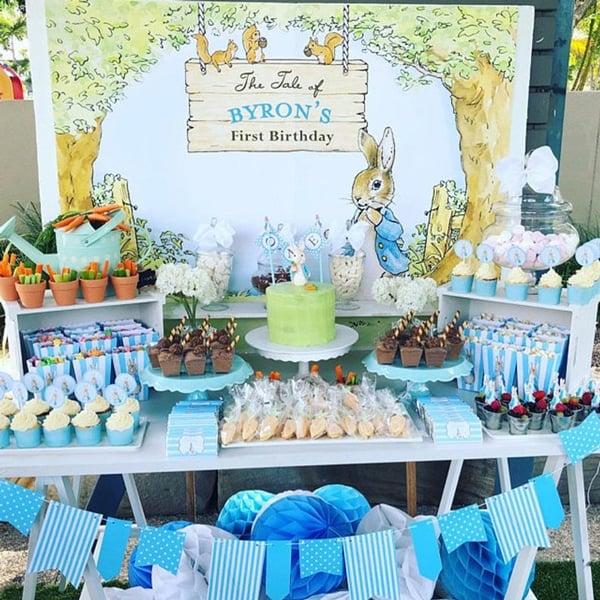 Peter Rabbit Party Backdrop - Peter Rabbit Party Ideas