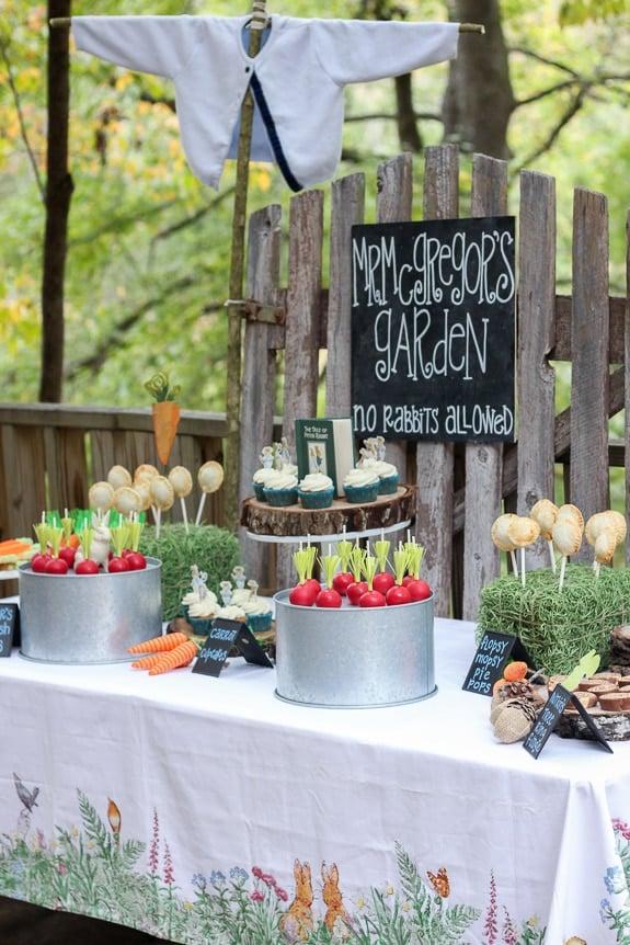 Peter Rabbit Dessert Table - Peter Rabbit Themed Party