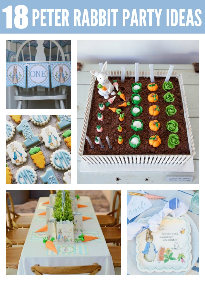18 Adorable Peter Rabbit Party Ideas on Pretty My Party