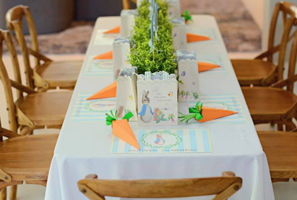 Peter Rabbit Party Table on Pretty My Party