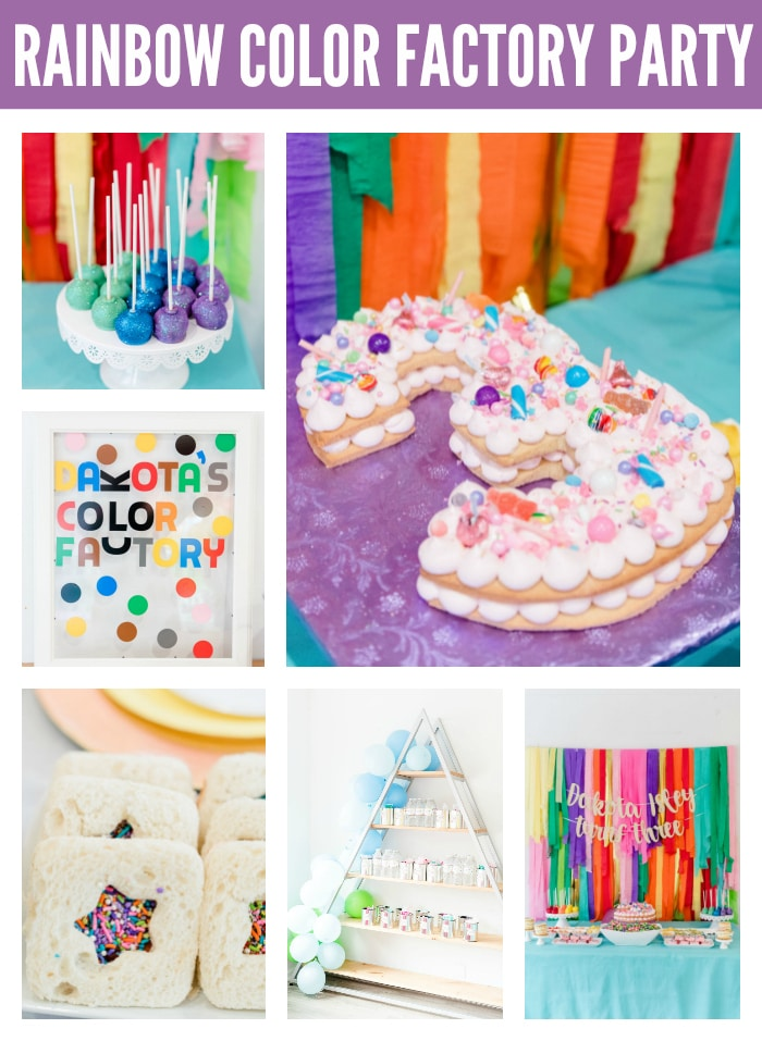 Rainbow Color Factory Party on Pretty My Party