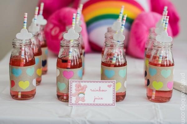 Rainbow Juice - Care Bears Party Ideas