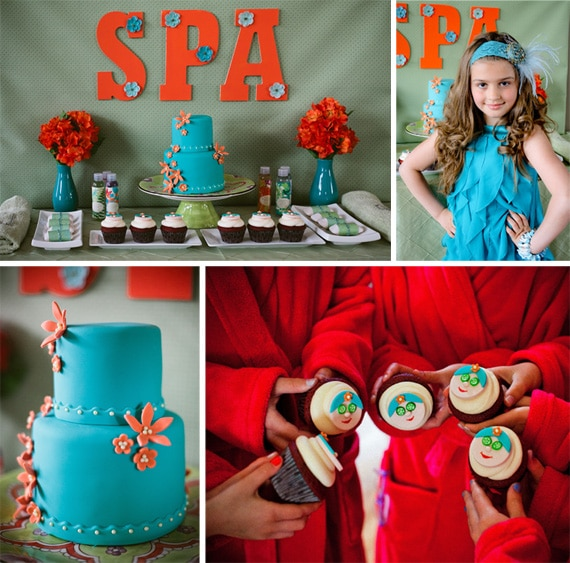 Spa Party Ideas on Pretty My Party