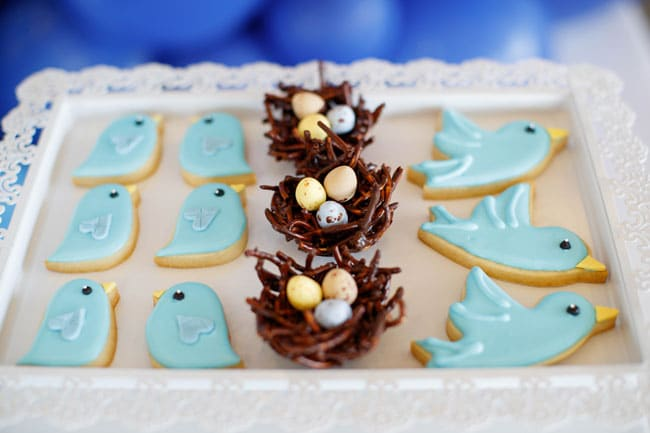 Mother's Day Party Bird Cookies