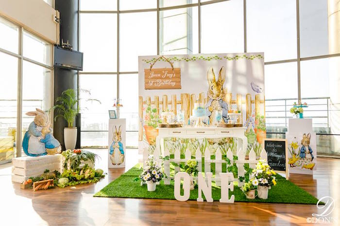 Peter Rabbit Themed Party on Pretty My Party