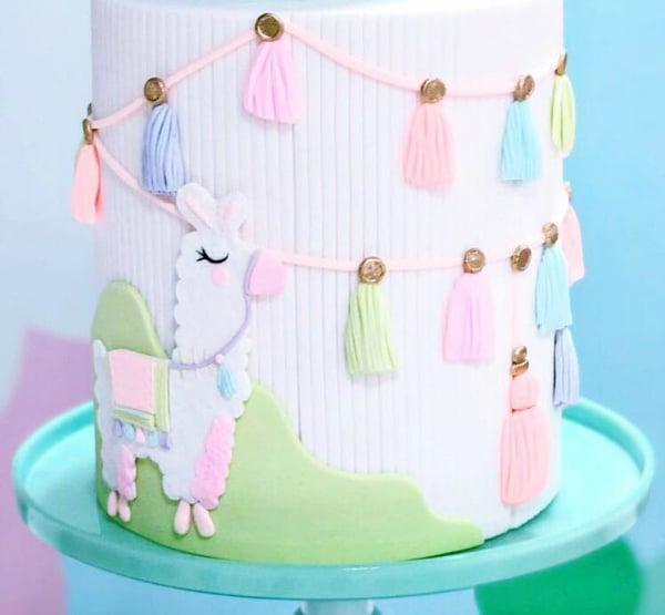 Llama Party Cake