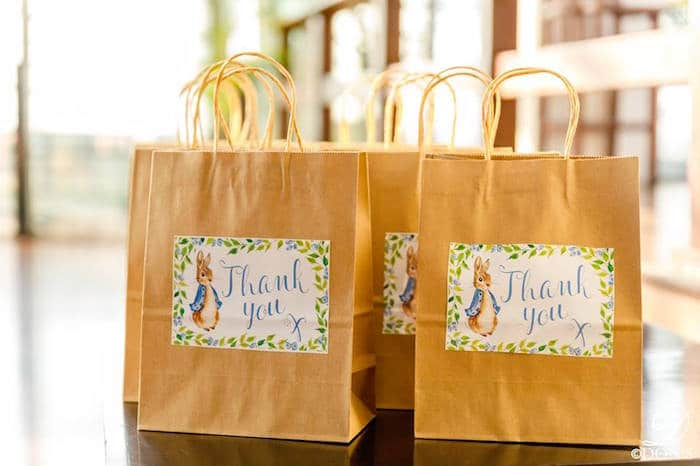 Peter Rabbit First Birthday Party Favor Bags