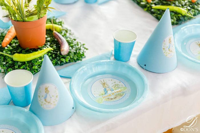 Peter Rabbit Party Plates and Hats