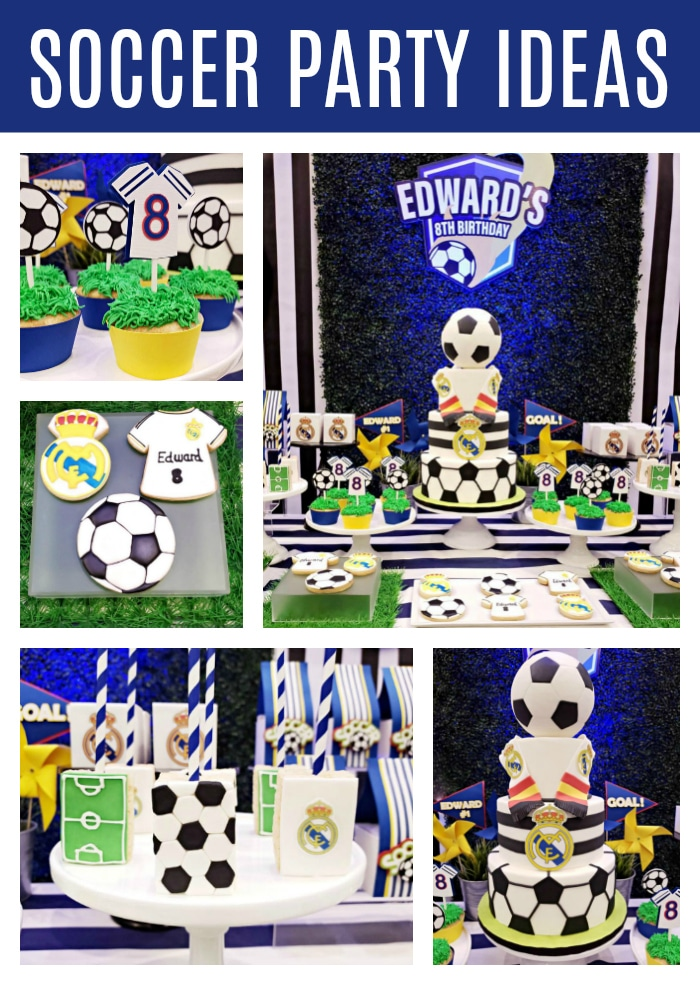Fun Soccer Themed Birthday Party on Pretty My Party