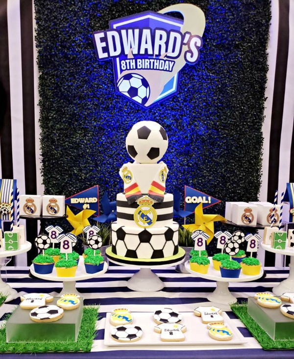 Soccer Party Dessert Table