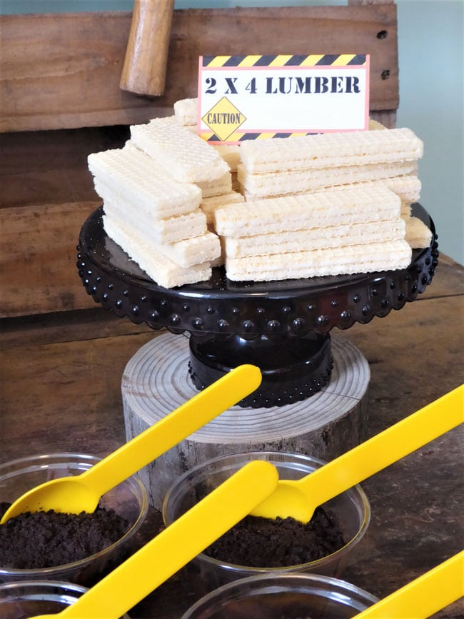 Construction Birthday Party Food- Lumber