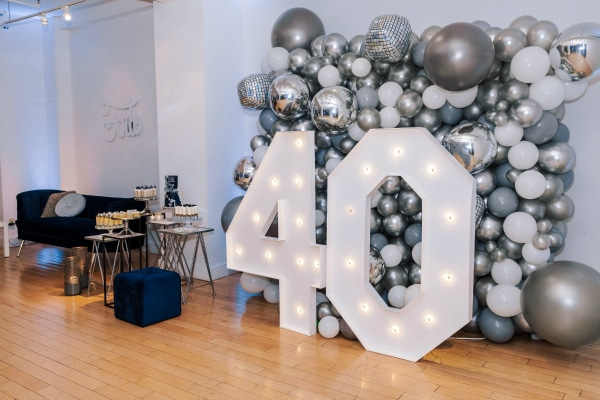 40th birthday party decor