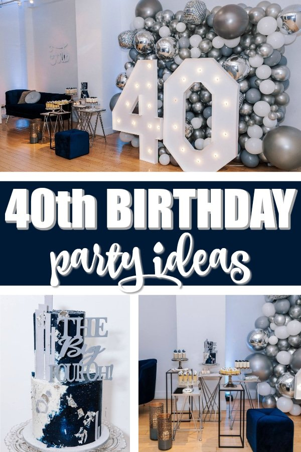 40th Birthday Party Ideas For Men on Pretty My Party
