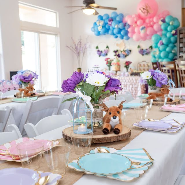 Bambi Garden Birthday Party Table Decor
