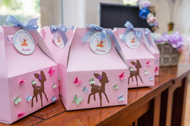 Pink Bambi Favor Boxes