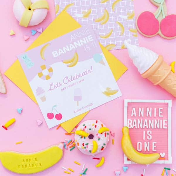 Museum of Ice Cream Inspired Birthday Invitation