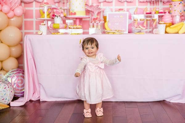 Pink 1st Birthday Party Dress