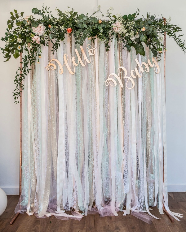 Hello Baby Baby Shower Backdrop Decoration