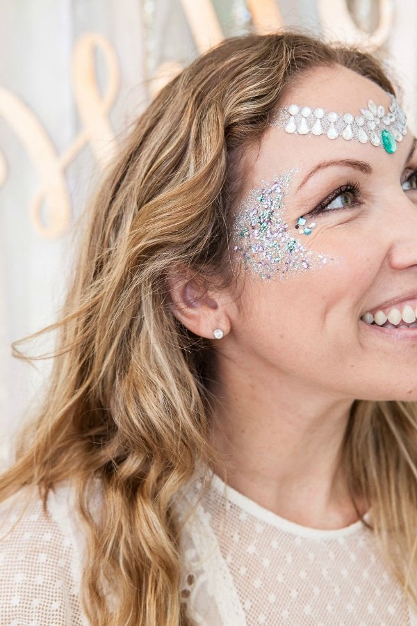 Boho Chic Baby Shower Makeup Idea