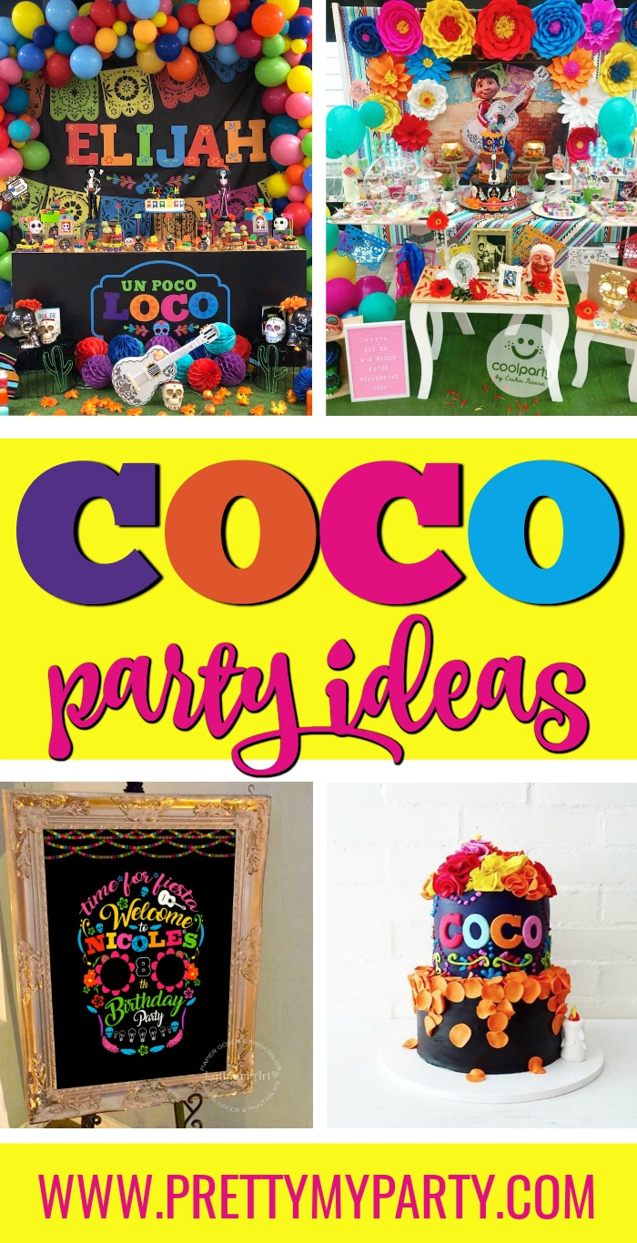 Colorful Coco Party Ideas on Pretty My Party