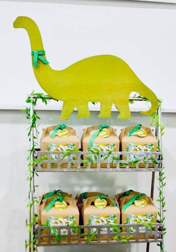 Dinosaur Party Favor Boxes