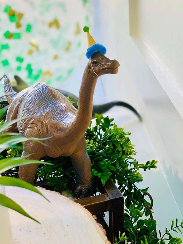 Dinosaur With Party Hat