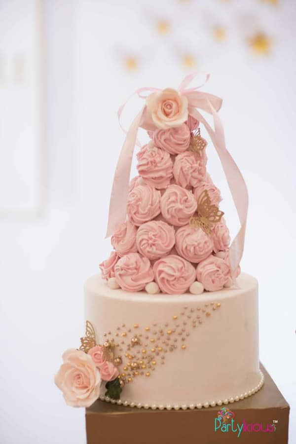 Pink Fairy 1st Birthday Cake