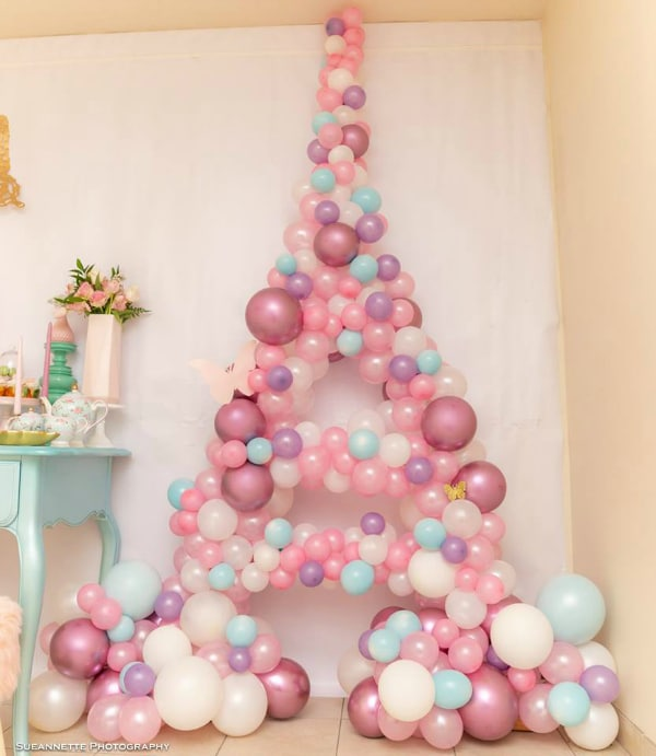Fancy Nancy Party Balloon Decoration