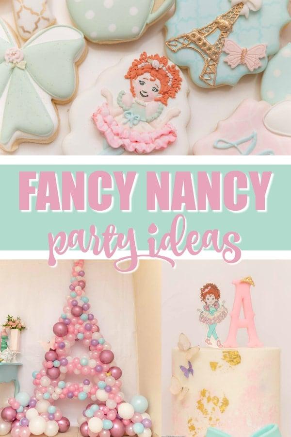 Fancy Nancy Party Ideas on Pretty My Party