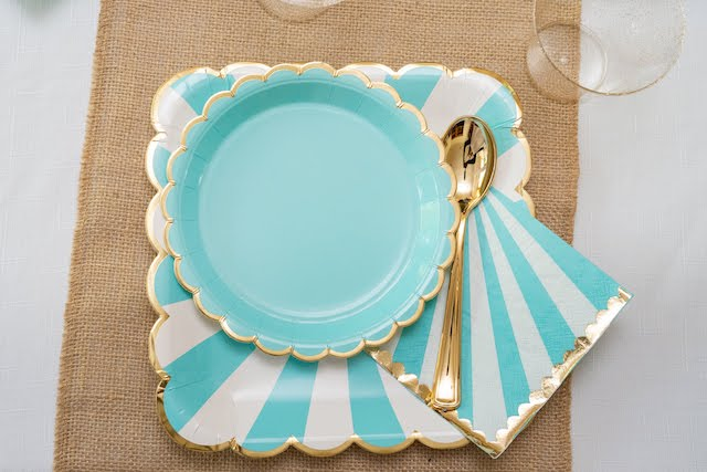 Striped Party Plates