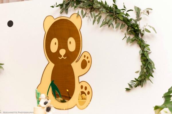 Panda Baby Shower Dessert Table Backdrop