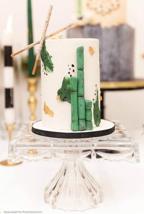 Gold Panda Baby Shower Cake