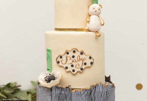 Panda Themed Baby Shower Cake