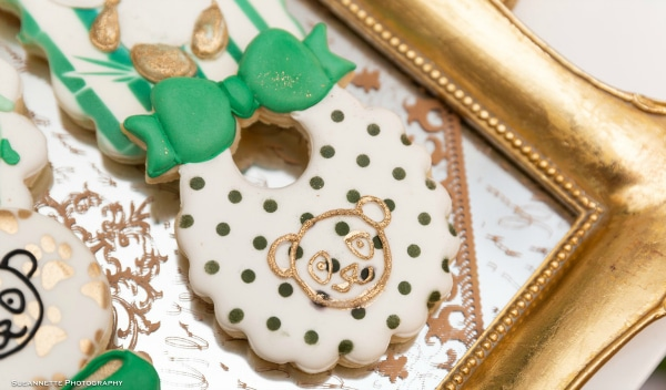 Gold Panda Baby Shower Cookies