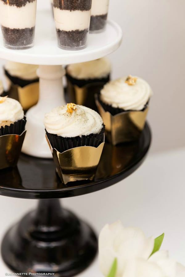 Gold Panda Baby Shower Cupcakes