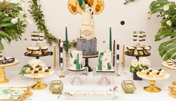 Panda Themed Baby Shower Desserts