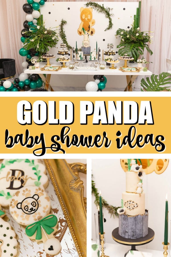 Gold Panda Baby Shower on Pretty My Party