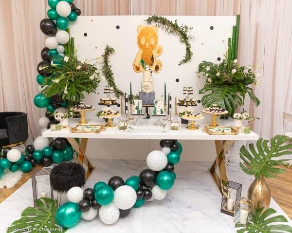 Panda Baby Shower Dessert Table