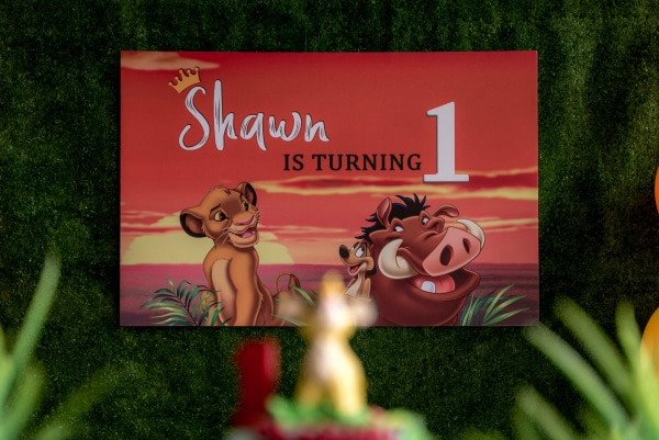 Lion King Birthday Banner