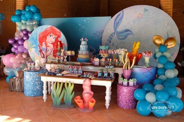 Little Mermaid Dessert Table