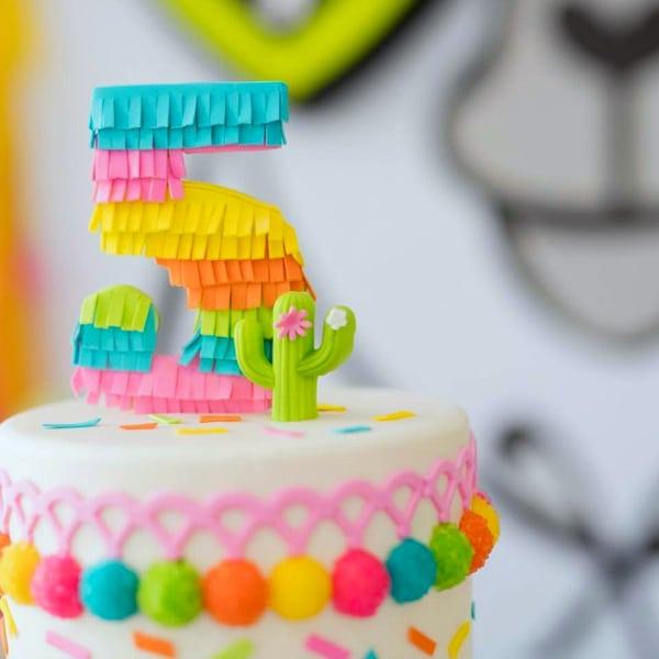 Pinata 5 Cake Topper
