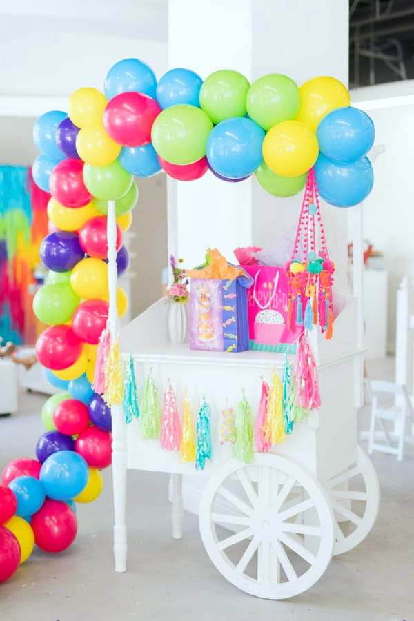 Colorful Balloon Garland For Gift Table